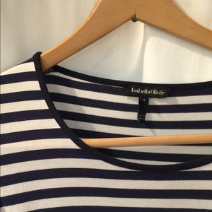 Isabella Oliver striped maternity dress.